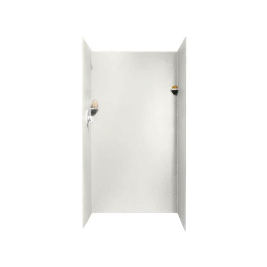 Swanstone Bisque Shower Wall Surround Side And Back Wall Kit (Common: 36-in x 36-in; Actual: 72-in x 36-in x 36-in)