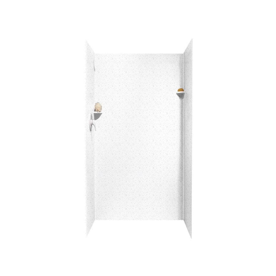 Swanstone Arctic Granite Shower Wall Surround Side And Back Wall Kit (Common: 36-in x 36-in; Actual: 72-in x 36-in x 36-in)
