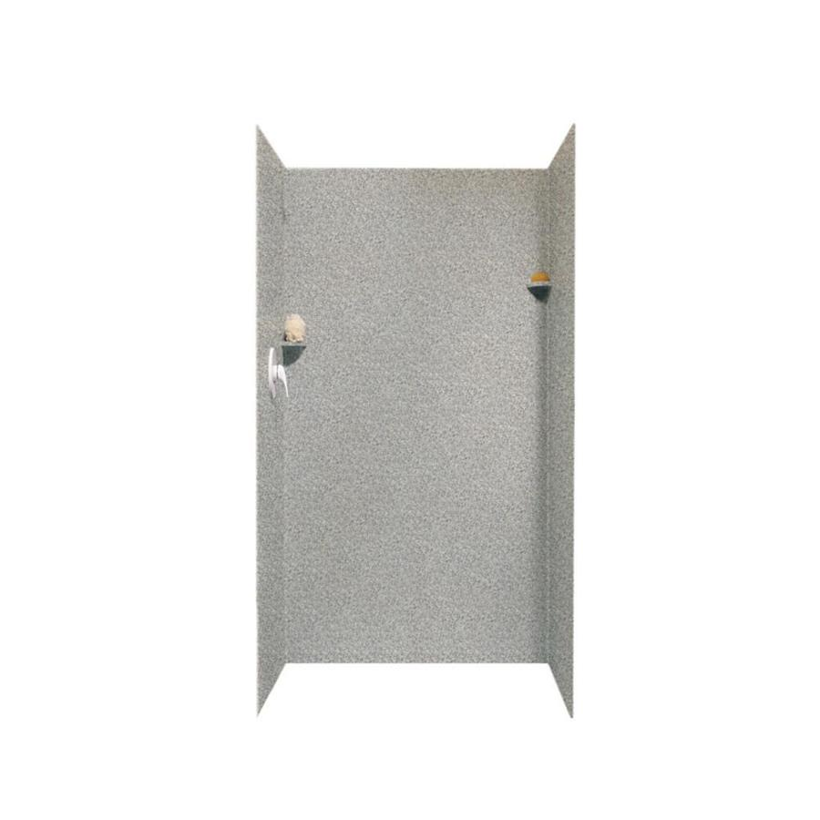 Swanstone Gray Granite Shower Wall Surround Side And Back Wall Kit (Common: 36-in x 36-in; Actual: 72-in x 36-in x 36-in)