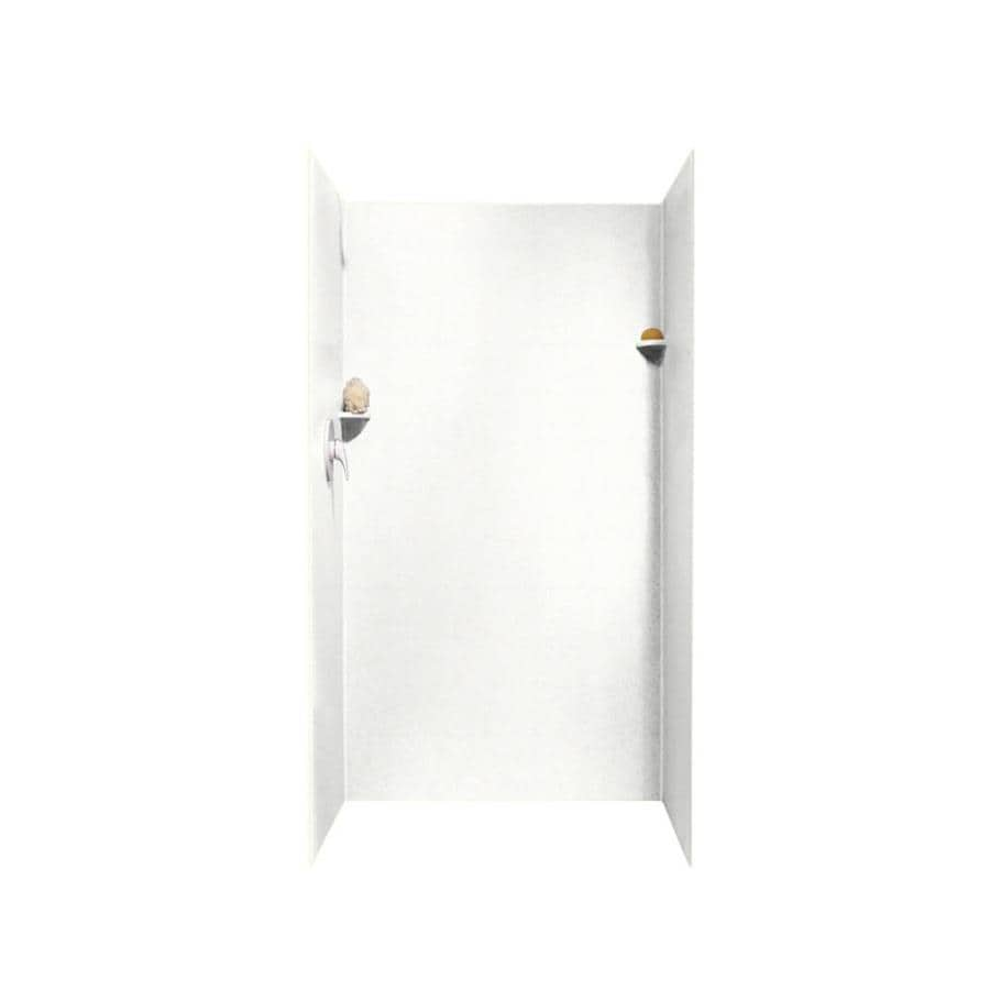 Swanstone Tahiti White Shower Wall Surround Side And Back Wall Kit (Common: 36-in x 36-in; Actual: 72-in x 36-in x 36-in)