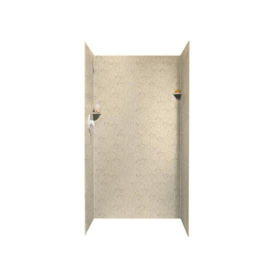 Swanstone Tahiti Desert Shower Wall Surround Side And Back Wall Kit (Common: 36-in x 36-in; Actual: 72-in x 36-in x 36-in)