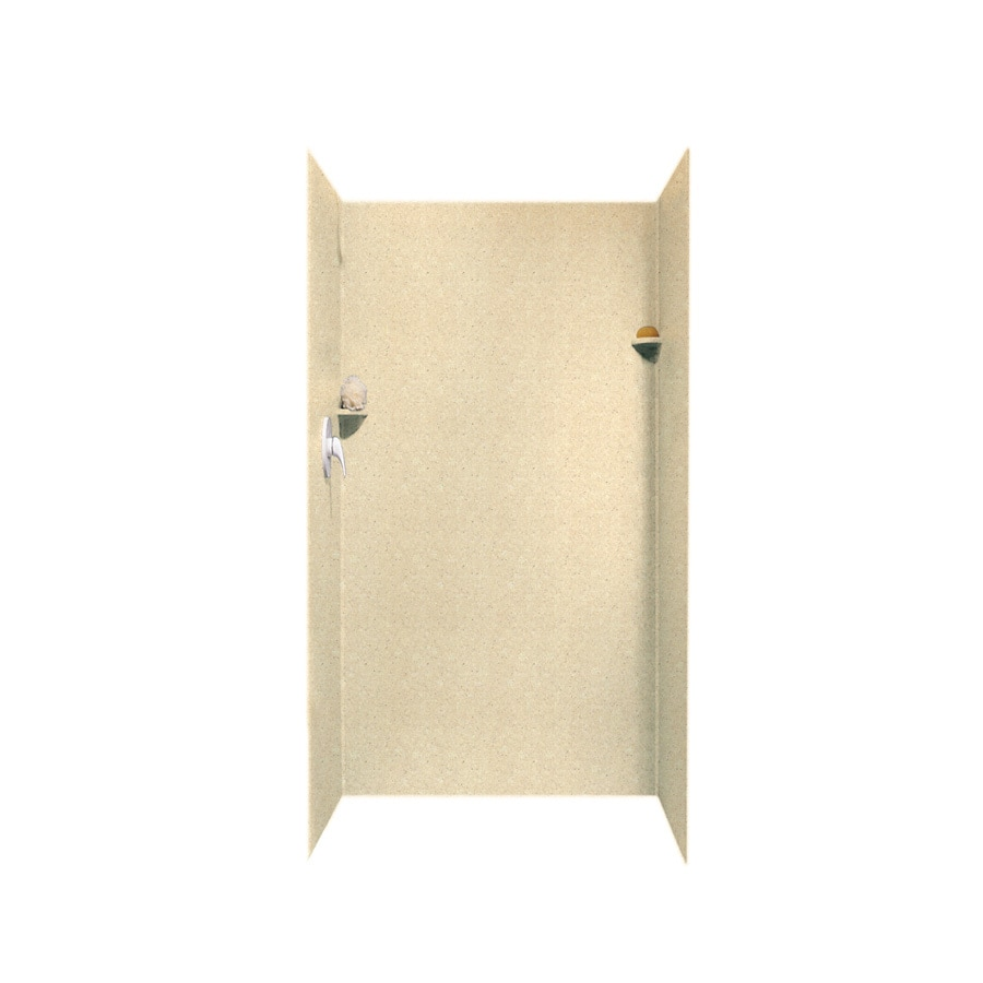 Swanstone Cornflower Shower Wall Surround Side and Back Wall Kit (Common: 36-in x 36-in; Actual: 72-in x 36-in x 36-in)