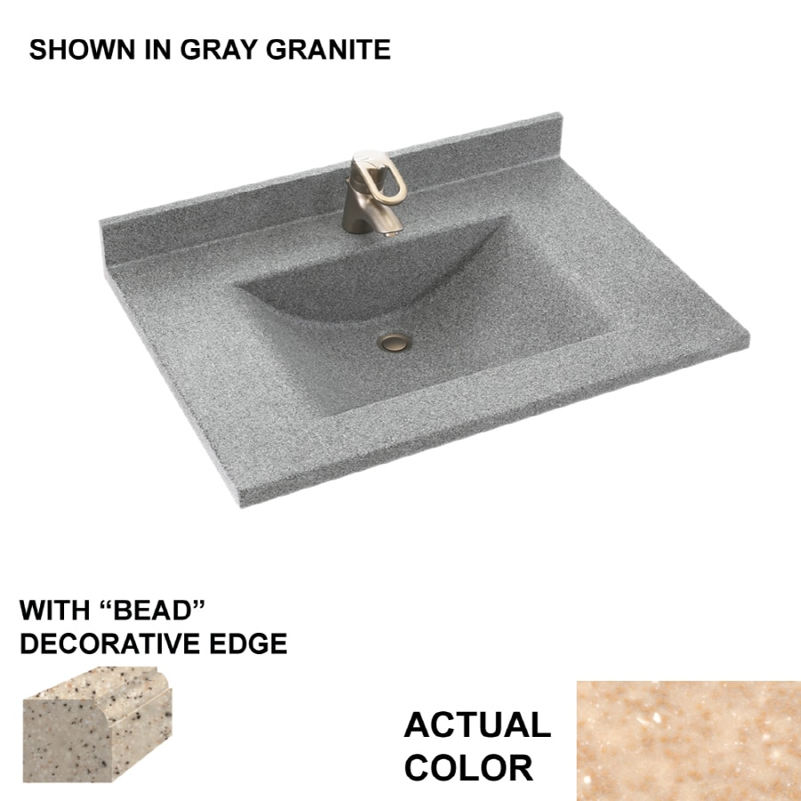 Solid Surface Bathroom Sink: Shop Swanstone Contour Cornflower Solid Surface Integral