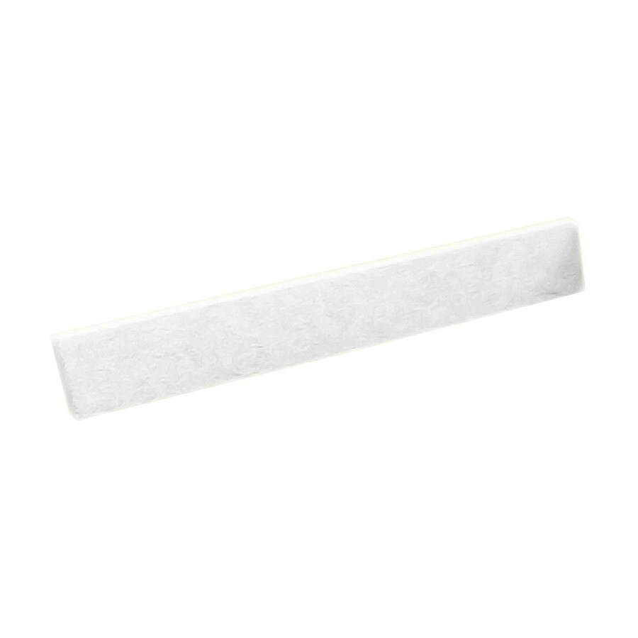 Swanstone 3-in H x 21.625-in L White Bathroom Side Splash