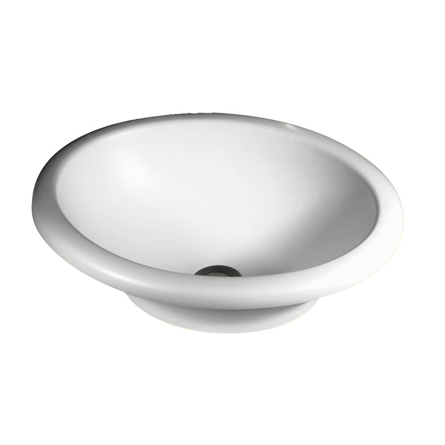 Swanstone Hilo White Solid Surface Vessel Oval Bathroom Sink