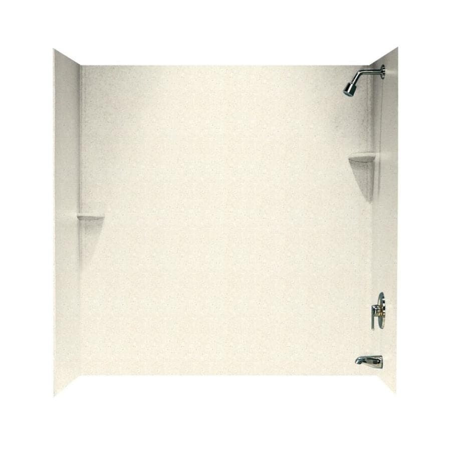 Swanstone Pebble Solid Surface Bathtub Wall Surround (Common: 30-in x 60-in; Actual: 60-in x 30-in x 60-in)