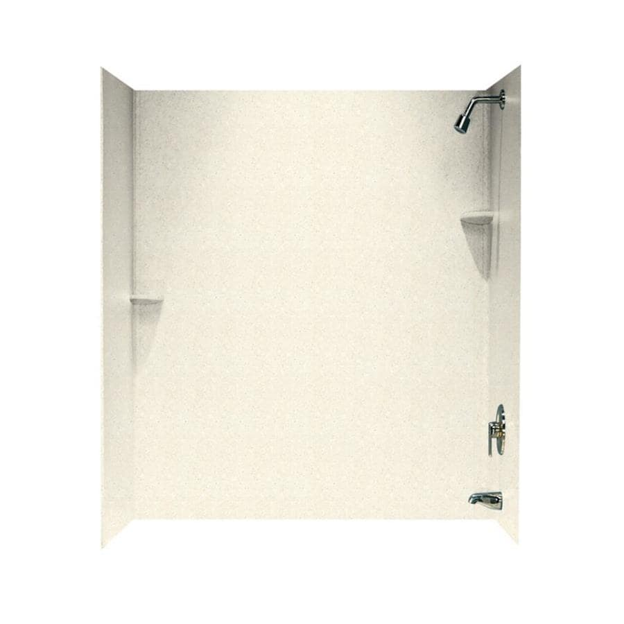 Swanstone Pebble Solid Surface Bathtub Wall Surround (Common: 30-in x 60-in; Actual: 72-in x 30-in x 60-in)