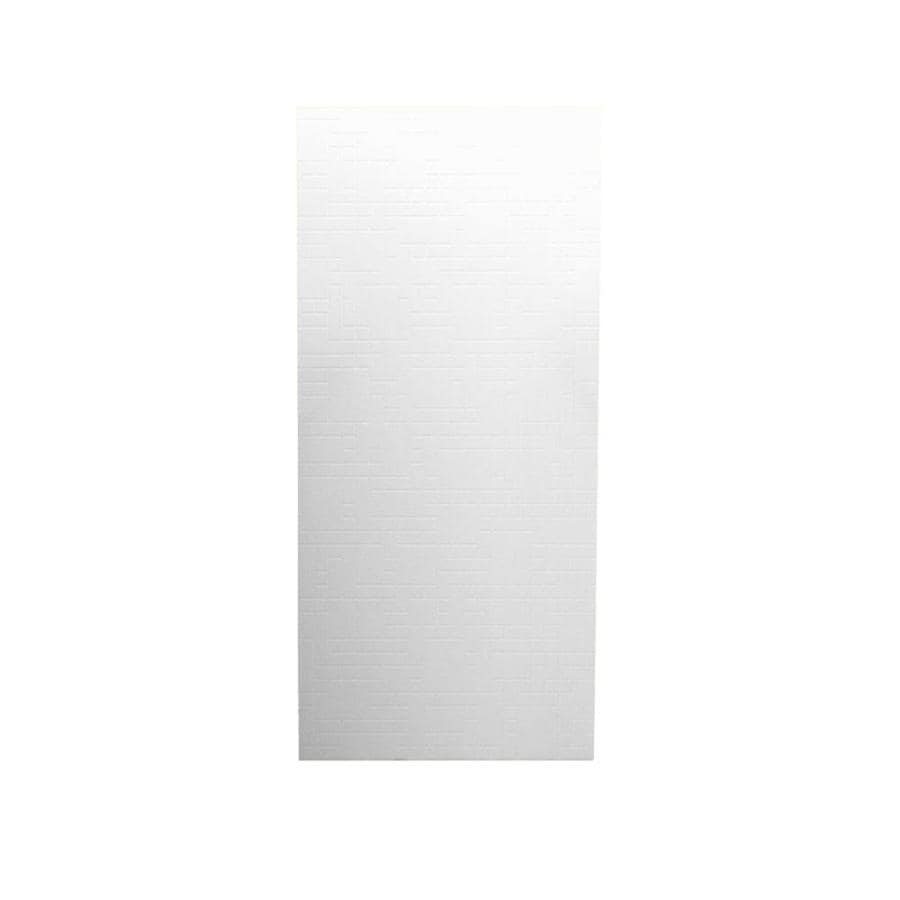 Swanstone White Shower Wall Surround Back Wall Panel (Common: 0.25-in x 36-in; Actual: 96-in x 0.25-in x 36-in)