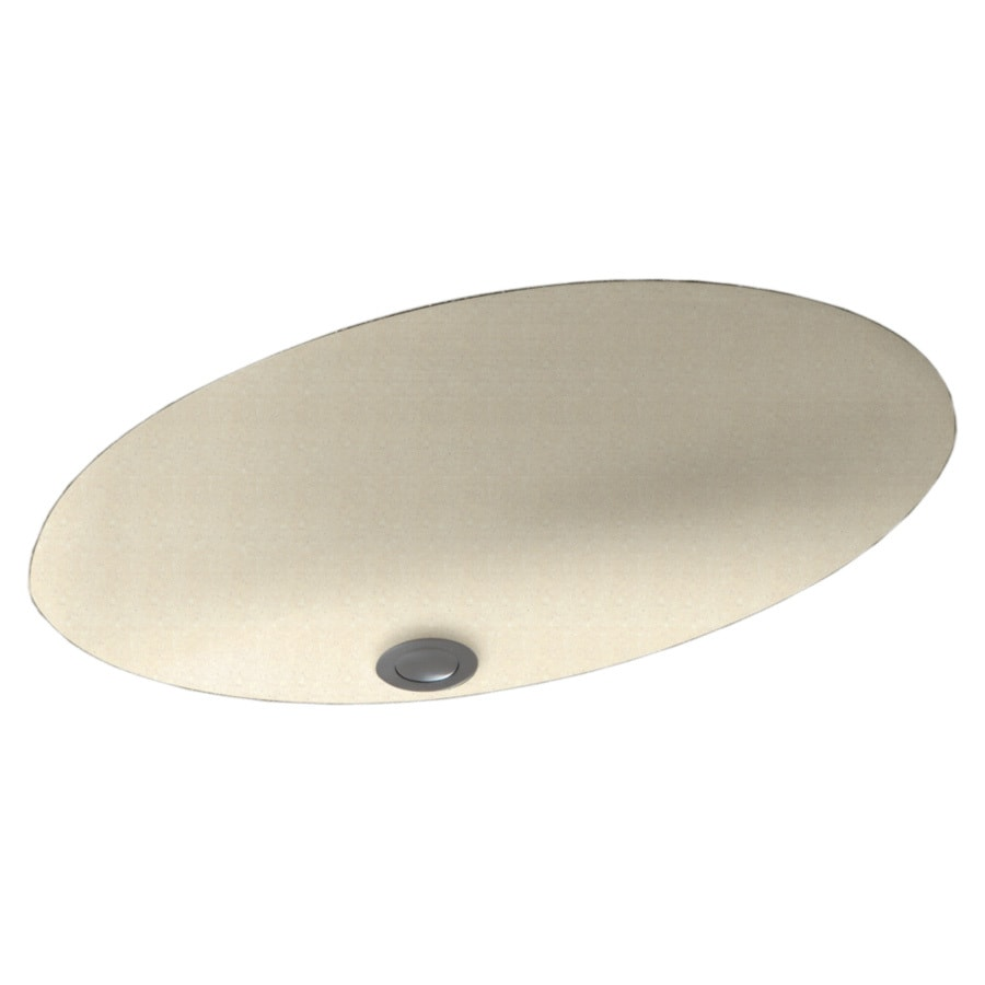 Swanstone Pebble Composite Undermount Oval Bathroom Sink with Overflow