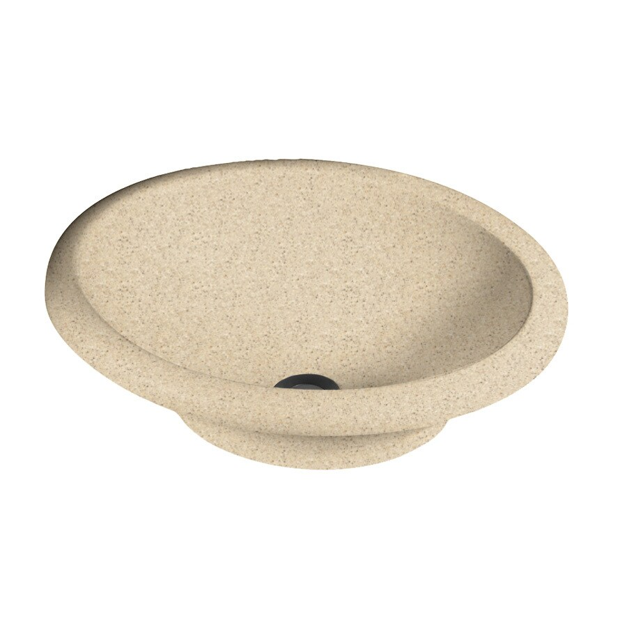 Swanstone Hilo Bermuda Sand Solid Surface Vessel Oval Bathroom Sink