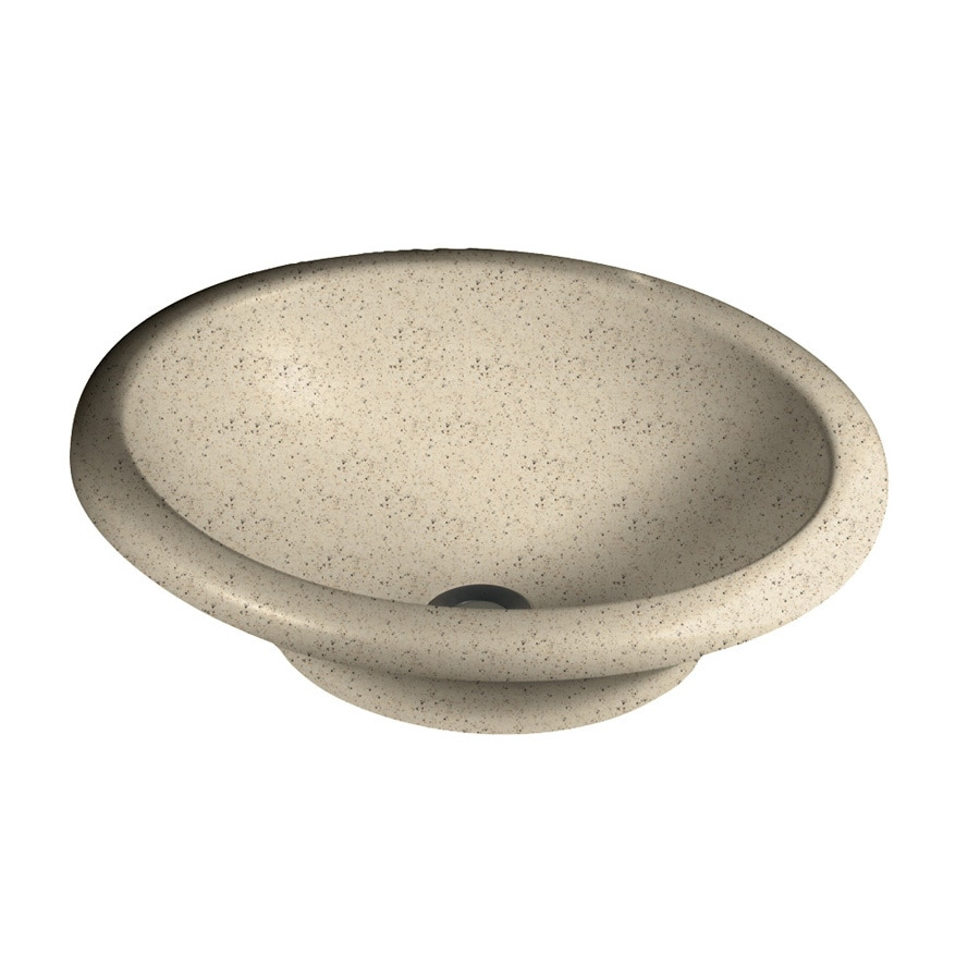Swanstone Hilo Tahiti Desert Solid Surface Vessel Oval Bathroom Sink