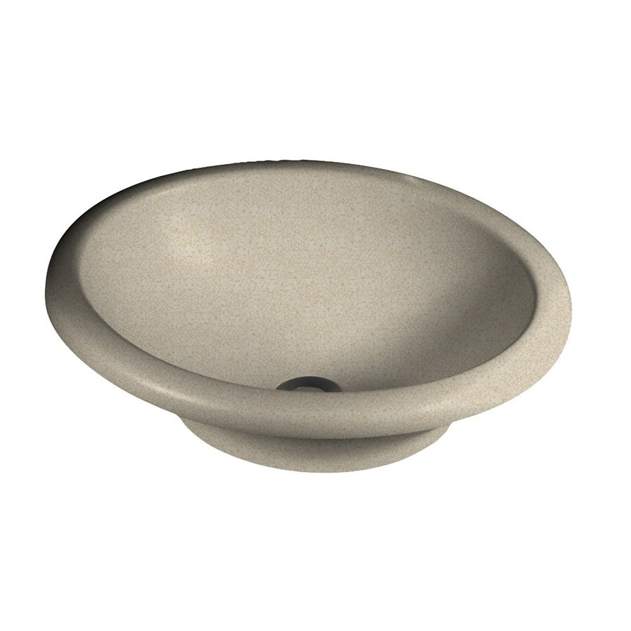Swanstone Hilo Winter Wheat Solid Surface Vessel Oval Bathroom Sink