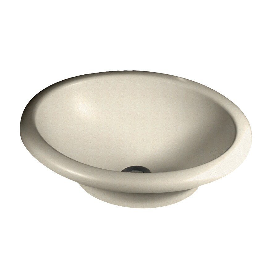 Swanstone Hilo Pebble Solid Surface Vessel Oval Bathroom Sink