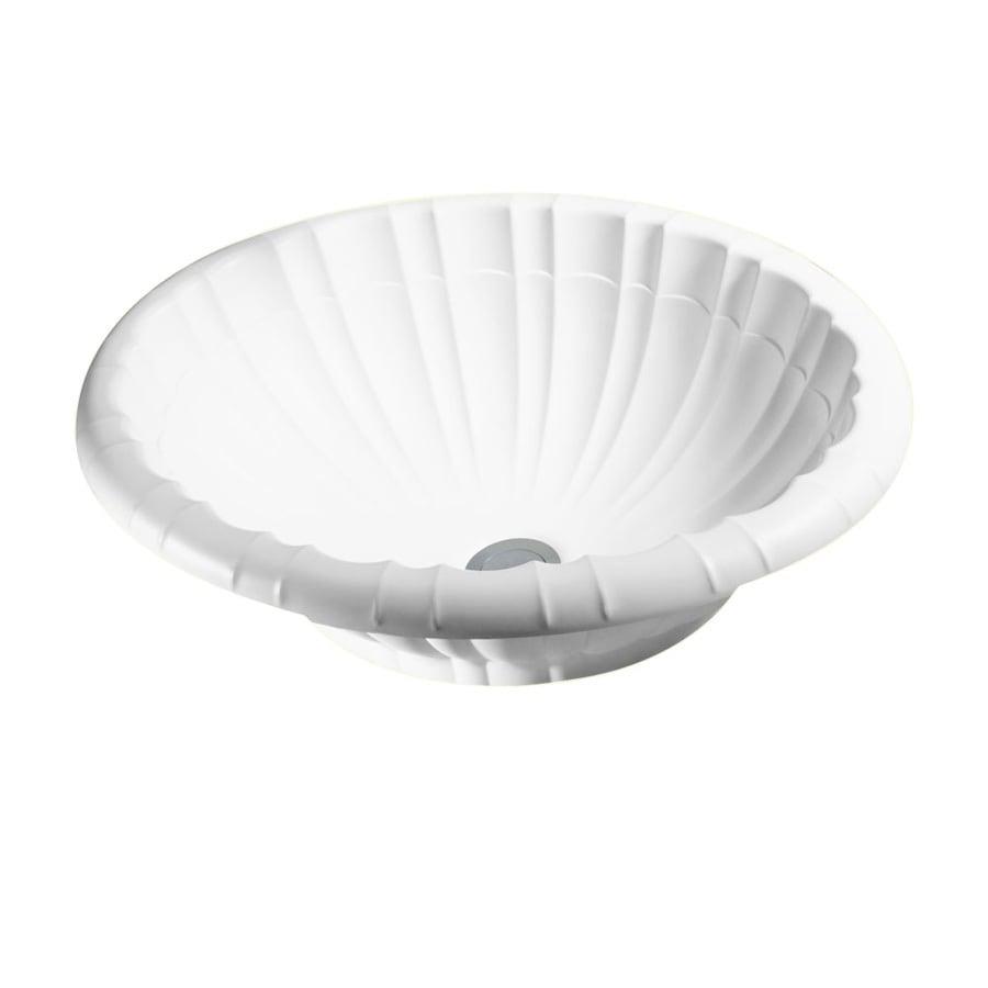 Swanstone Islandia White Solid Surface Vessel Oval Bathroom Sink