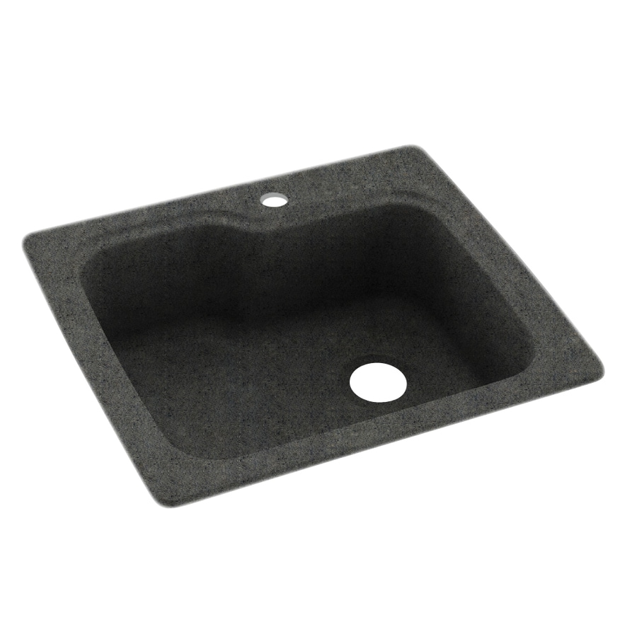 Swanstone Dual Mount 25 In X 22 In Indian Grass Single Bowl 1 Hole Kitchen Sink In The Kitchen Sinks Department At Lowes Com