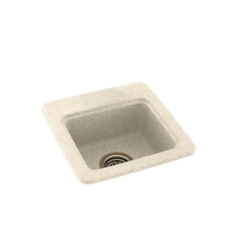 Swanstone Pebble Single-Basin 1-Hole Composite Drop-in or Undermount Residential Bar Sink
