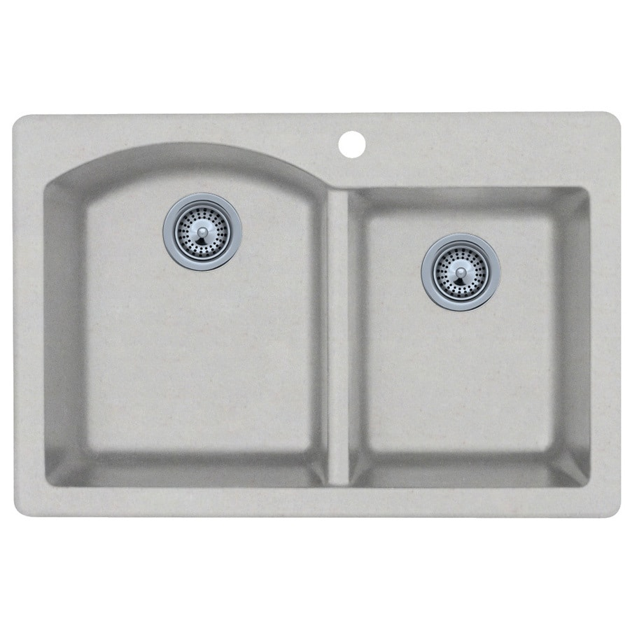 lowes composite granite kitchen sinks shop swanstone basin composite granite kitchen sink 9073