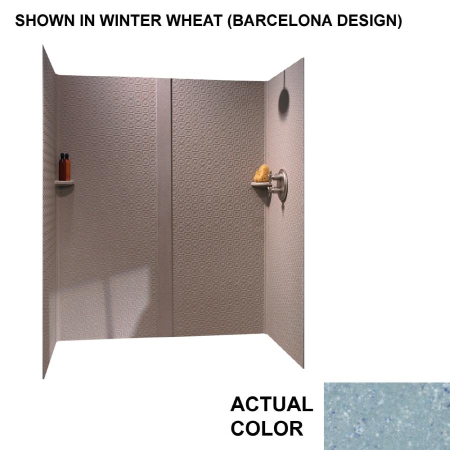 swanstone tahiti blue fiberglassplastic composite shower