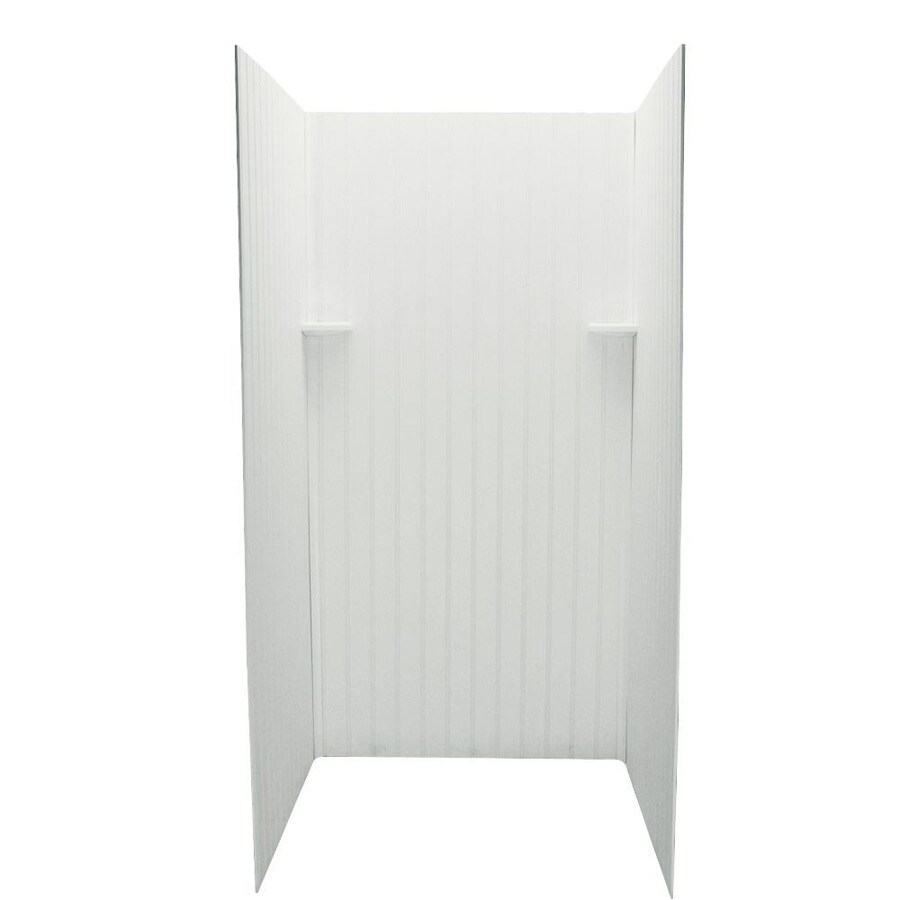 Swanstone Tahiti Ivory Shower Wall Surround Side And Back Wall Kit (Common: 36-in x 36-in; Actual: 72-in x 36-in x 36-in)
