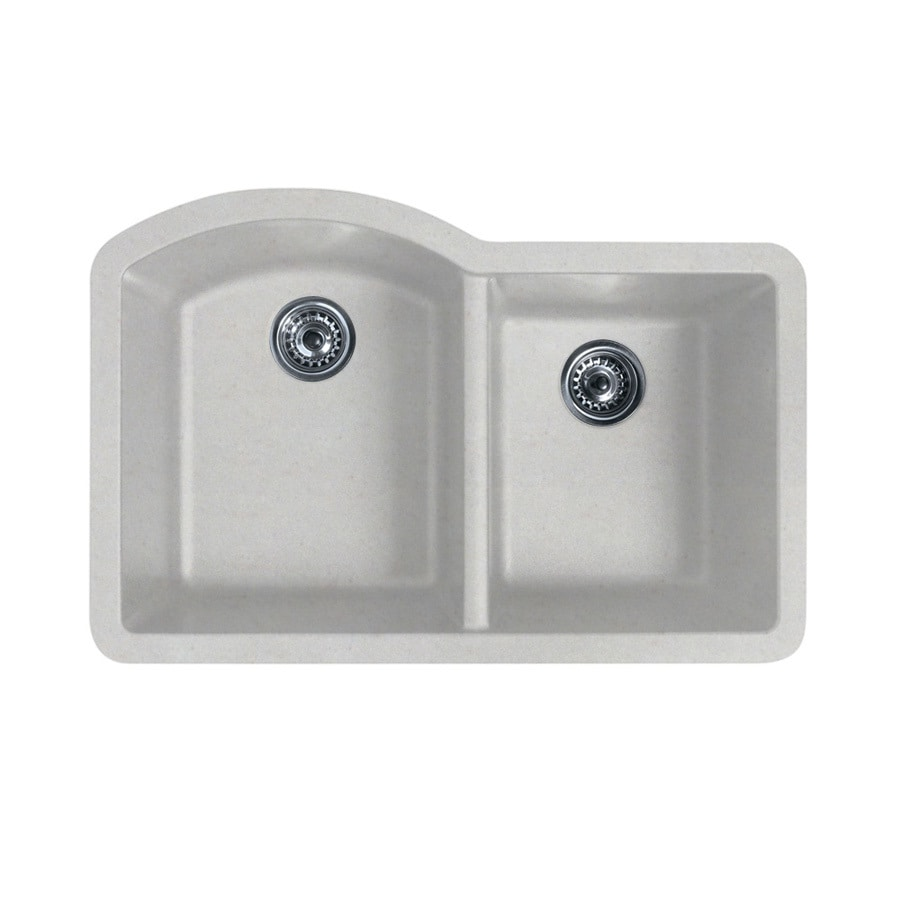 SWAN 21.0000-in x 32.0000-in Granito Double-Basin Granite Undermount Residential Kitchen Sink