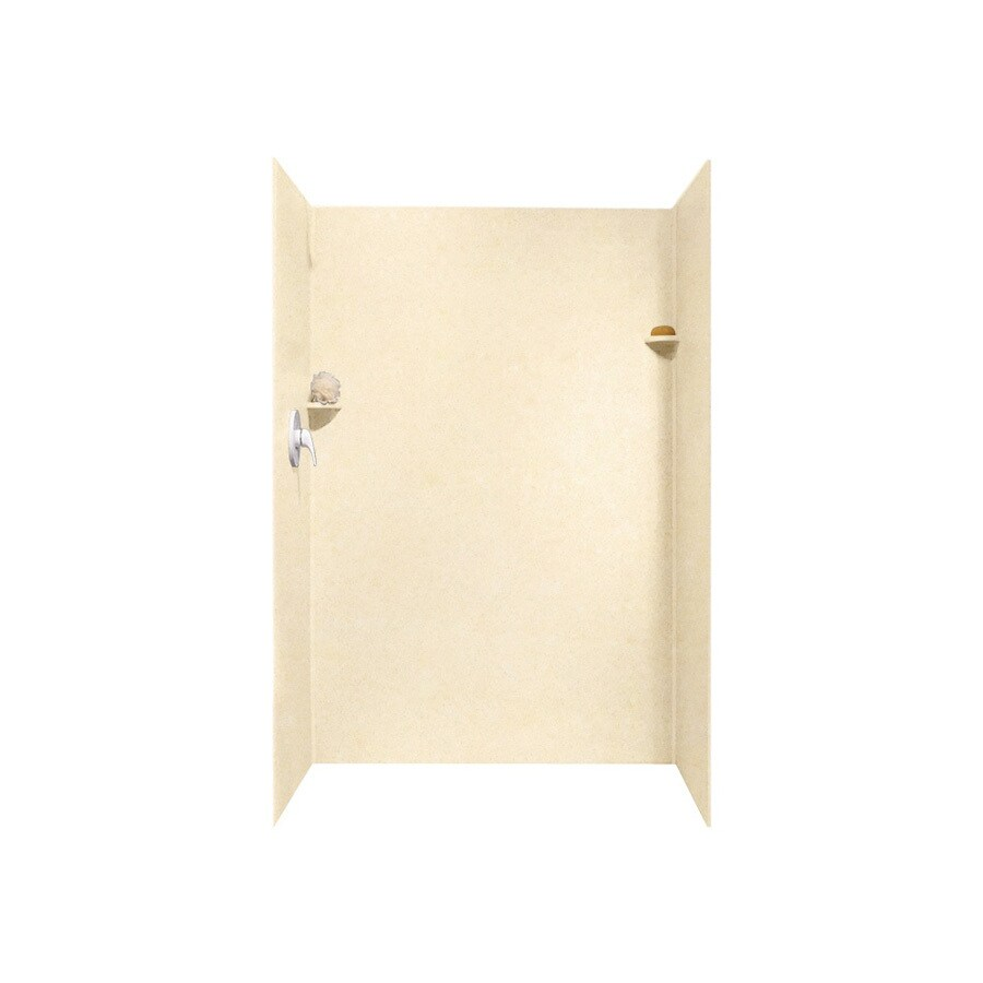 Swanstone Tahiti Terra Shower Wall Surround Side And Back Wall Kit (Common: 32-in x 48-in; Actual: 72-in x 32-in x 48-in)