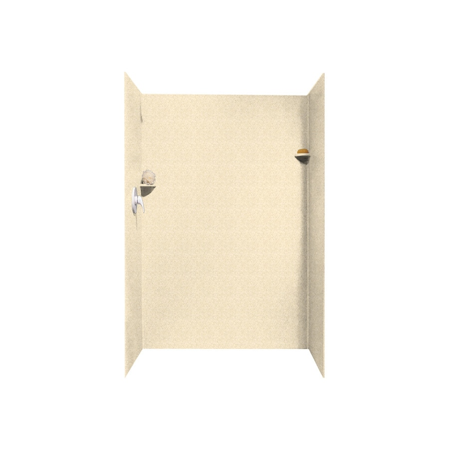 Swanstone Cornflower Shower Wall Surround Side and Back Panels (Common: 32-in x 48-in; Actual: 72-in x 32-in x 48-in)