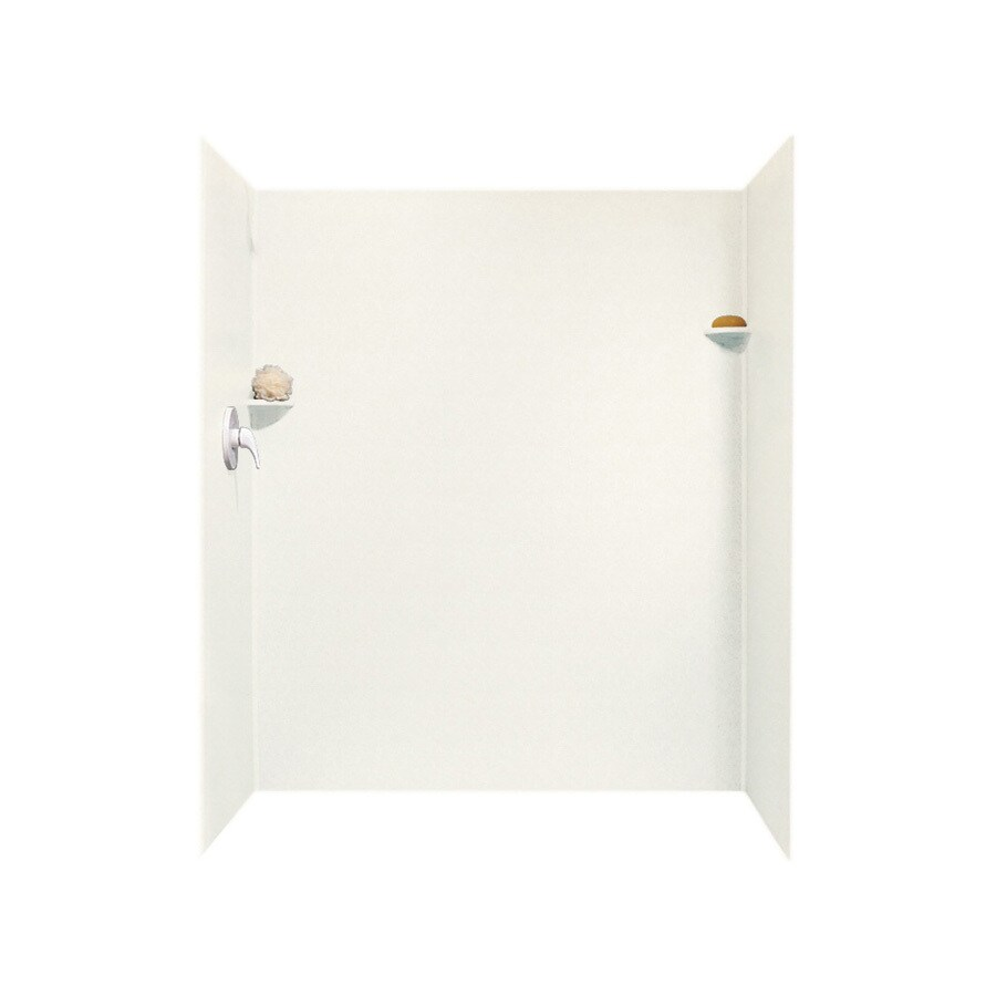 Swanstone Tahiti Ivory Shower Wall Surround Side And Back Wall Kit (Common: 34-in x 60-in; Actual: 72-in x 34-in x 60-in)