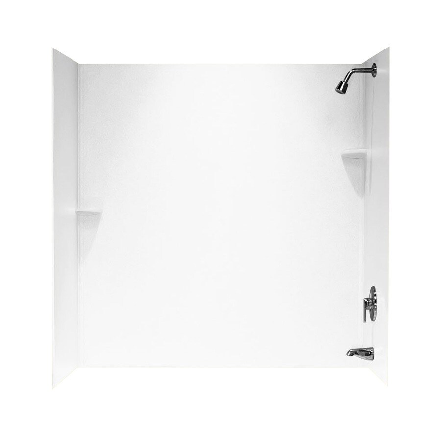 Swanstone Solid Surface Bathtub Wall Surround (Common: 48-in x 72-in; Actual: 60-in x 48-in x 72-in)