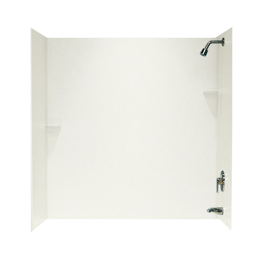 Swanstone Bisque Solid Surface Bathtub Wall Surround (Common: 48-in x 72-in; Actual: 60-in x 48-in x 72-in)