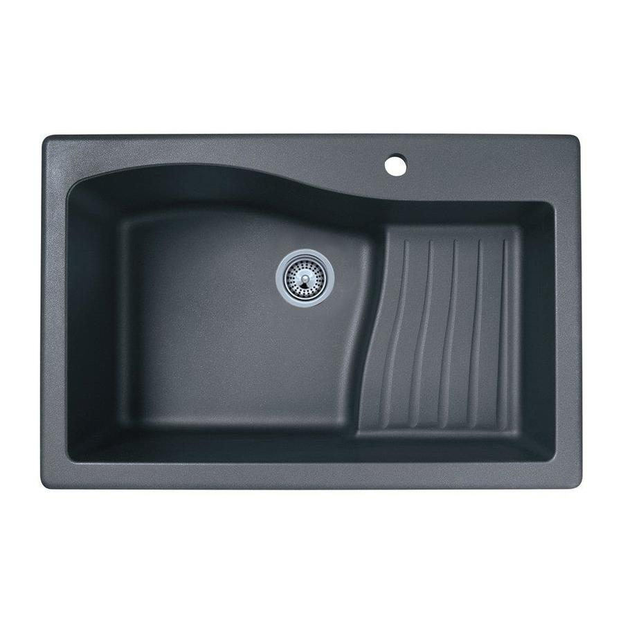 Swan 33 In X 22 Nero Single Basin Drop Or