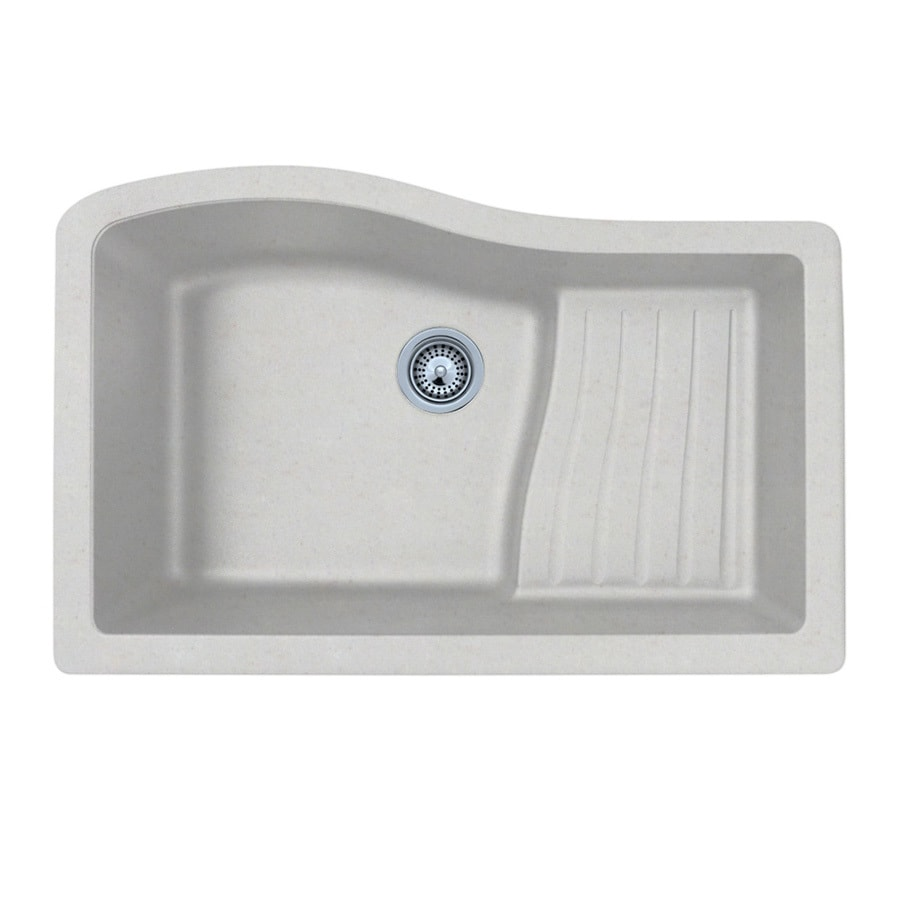 SWAN 21-in x 32-in Granito Single-Basin Granite Undermount  Residential Kitchen Sink with Drainboard