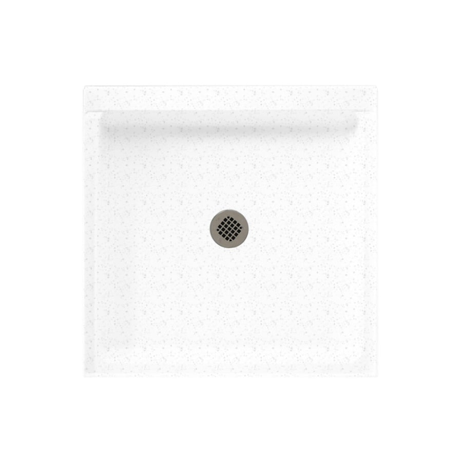 Swanstone Arctic Granite Solid Surface Shower Base (Common: 32-in W x 32-in L; Actual: 32-in W x 32-in L)