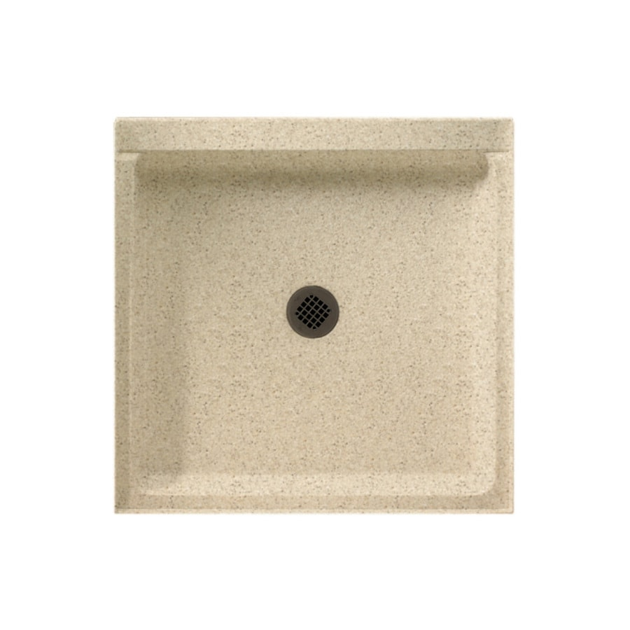 Swanstone Bermuda Sand Solid Surface Shower Base (Common: 32-in W x 32-in L; Actual: 32-in W x 32-in L)