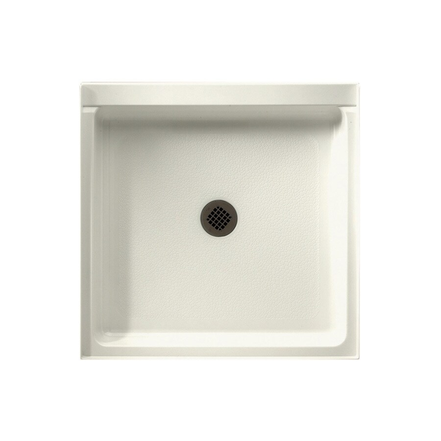 Swanstone Bisque Solid Surface Shower Base (Common: 32-in W x 32-in L; Actual: 32-in W x 32-in L)