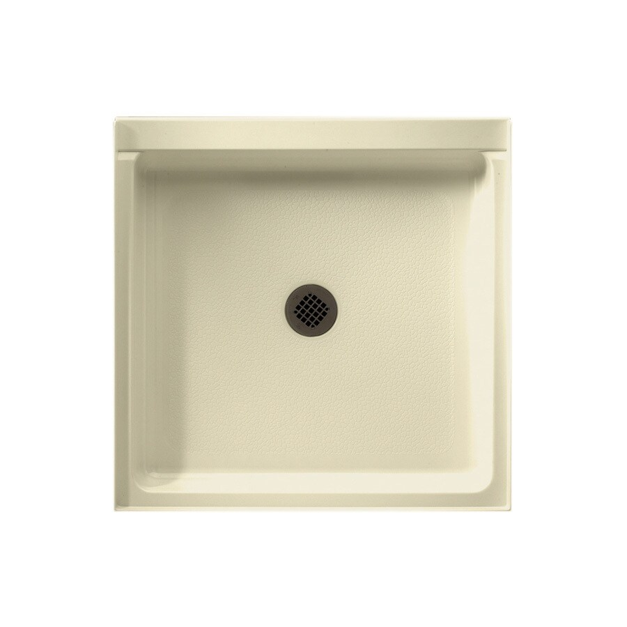 Swanstone Bone Solid Surface Shower Base (Common: 32-in W x 32-in L; Actual: 32-in W x 32-in L)