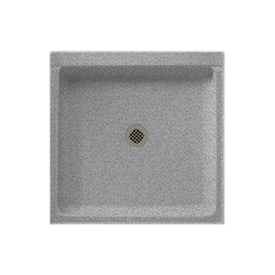 Swanstone Gray Granite Solid Surface Shower Base (Common: 32-in W x 32-in L; Actual: 32-in W x 32-in L)