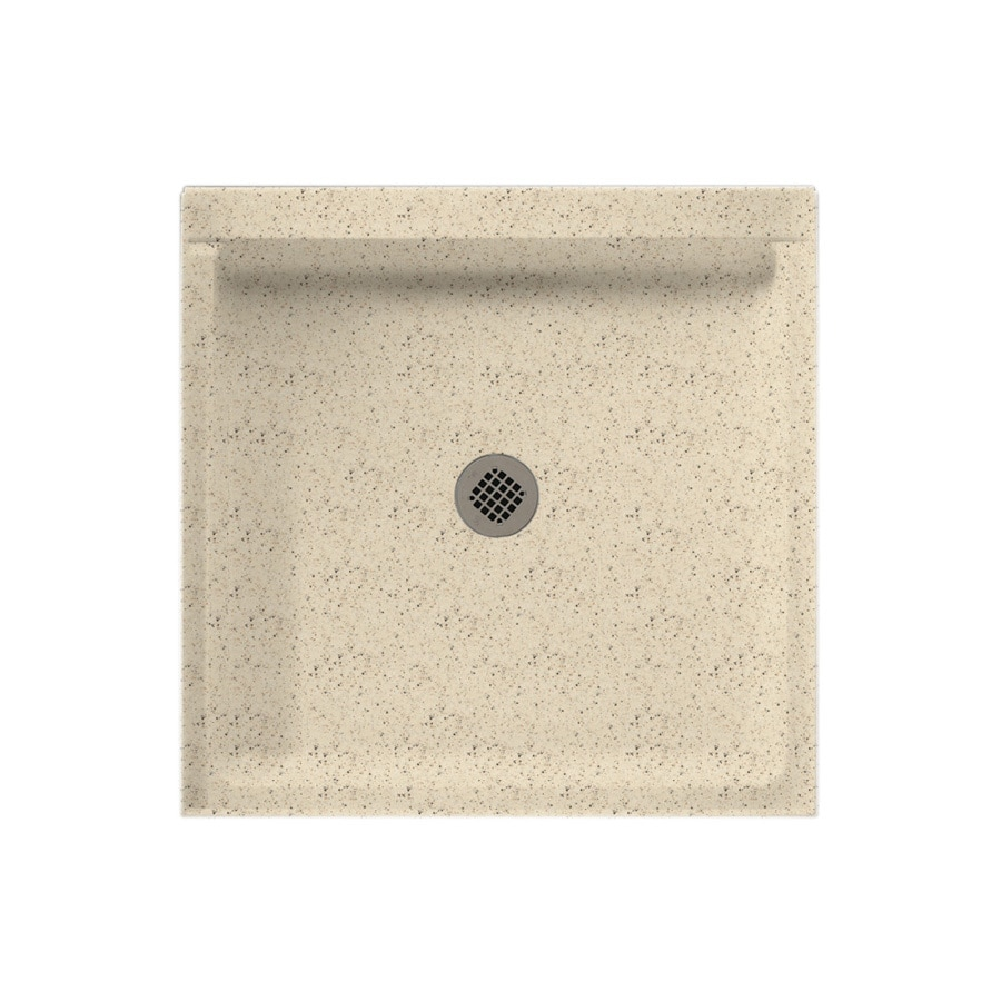 Swanstone Tahiti Desert Solid Surface Shower Base (Common: 32-in W x 32-in L; Actual: 32-in W x 32-in L)