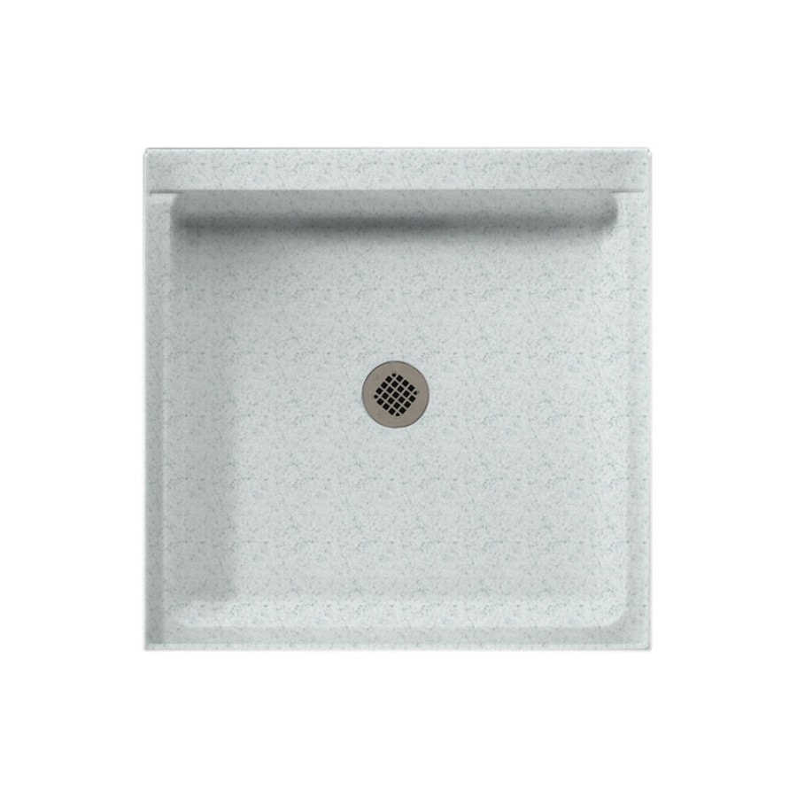 Swanstone Tahiti Gray Solid Surface Shower Base (Common: 32-in W x 32-in L; Actual: 32-in W x 32-in L)