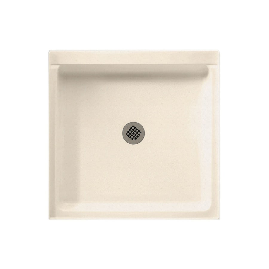 Swanstone Tahiti Sand Solid Surface Shower Base (Common: 32-in W x 32-in L; Actual: 32-in W x 32-in L)