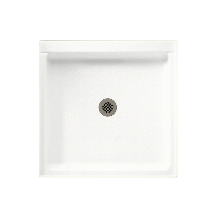 Swanstone Tahiti White Solid Surface Shower Base (Common: 32-in W x 32-in L; Actual: 32-in W x 32-in L)