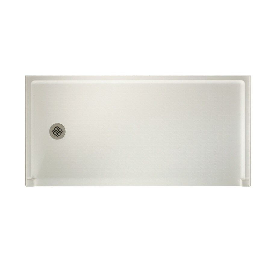 Swanstone Bisque Solid Surface Shower Base (Common: 30-in W x 60-in L; Actual: 30-in W x 60-in L)
