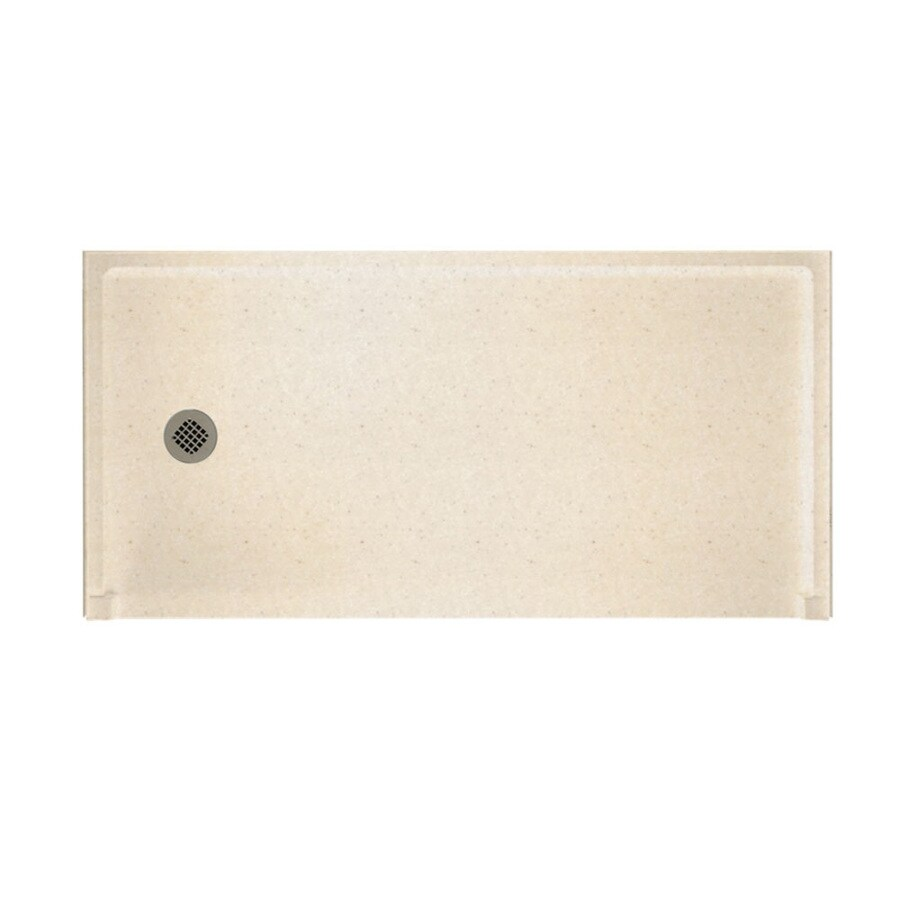 Swanstone Tahiti Sand Solid Surface Shower Base (Common: 30-in W x 60-in L; Actual: 30-in W x 60-in L)
