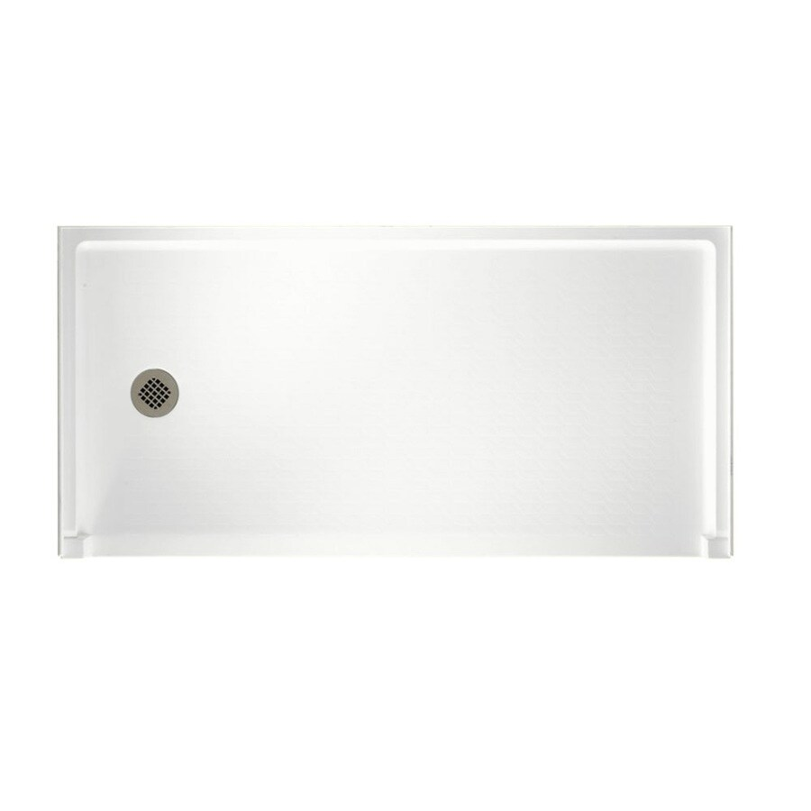 Swanstone White Solid Surface Shower Base (Common: 30-in W x 60-in L; Actual: 30-in W x 60-in L)