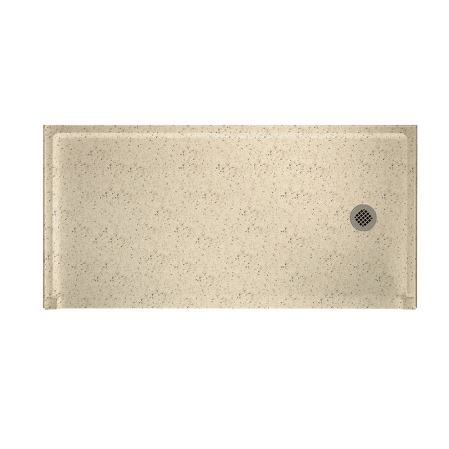 Swanstone Tahiti Desert Solid Surface Shower Base (Common: 30-in W x 60-in L; Actual: 30-in W x 60-in L)