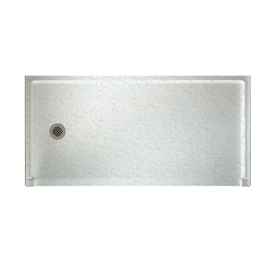 Swanstone Tahiti Gray Solid Surface Shower Base (Common: 30-in W x 60-in L; Actual: 30-in W x 60-in L)