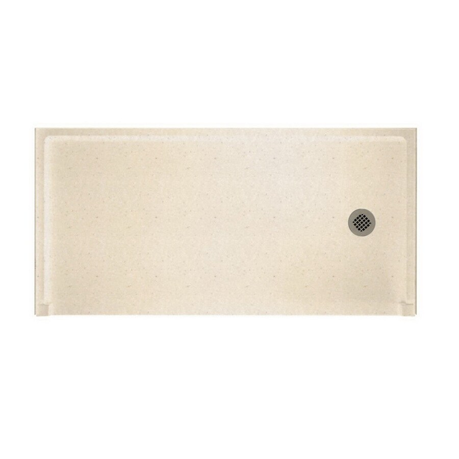 Swanstone Tahiti Sand Solid Surface Shower Base (Common: 30-in W x 60-in L; Actual: 30-in W x 60-in L) with Right Drain