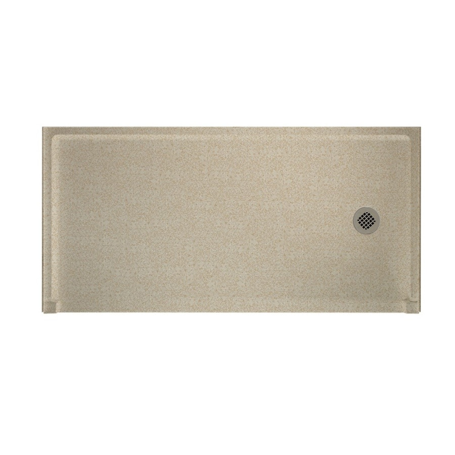 Swanstone Winter Wheat Solid Surface Shower Base (Common: 30-in W x 60-in L; Actual: 30-in W x 60-in L)