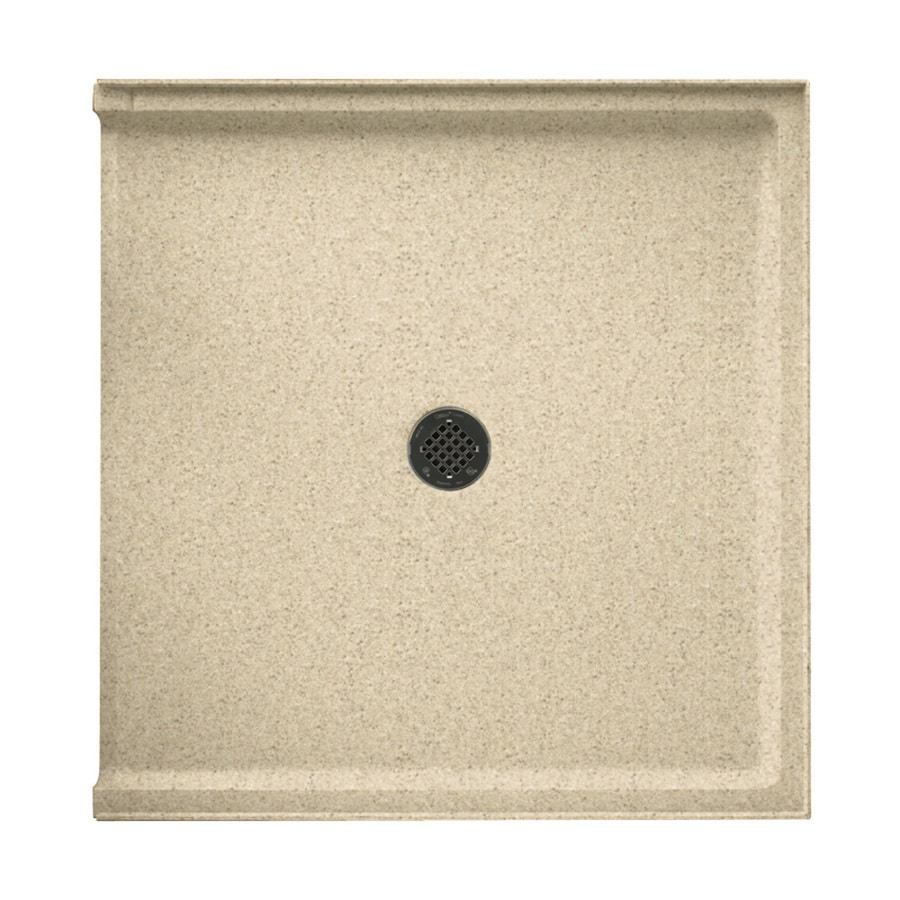 Swanstone Bermuda Sand Solid Surface Shower Base (Common: 37-in W x 38-in L; Actual: 37-in W x 38-in L)