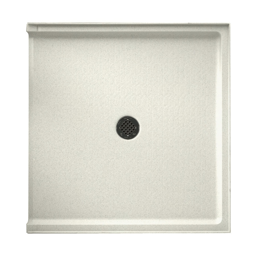 Swanstone Bisque Solid Surface Shower Base (Common: 37-in W x 38-in L; Actual: 37-in W x 38-in L)