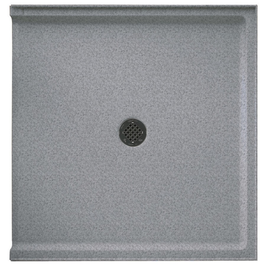 Swanstone Gray Granite Solid Surface Shower Base (Common: 37-in W x 38-in L; Actual: 37-in W x 38-in L)